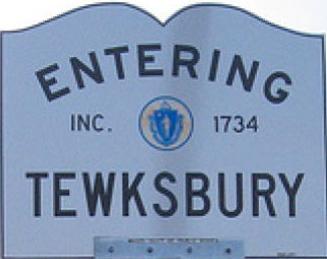 Entering Tewksbury, Massachusetts sign
