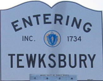 Entering Tewksbury, Massachusetts sign