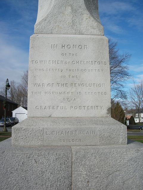 Chelmsford, MA Revolutionary War Memorial