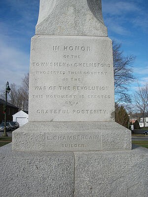 Chelmsford, MA Revolutionary War Memorial