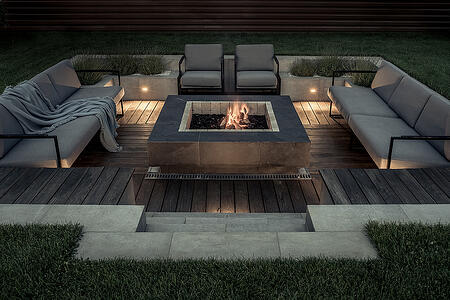 Beautiful Outdoor Fire Pit Fueled by Propane Gas