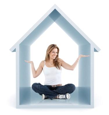 Woman inside house