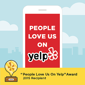 "Buyers Brokers Only earns ""People Love Us On Yelp"" Award for 2015"
