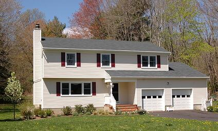 A colonial home bought by first-time homebuyers